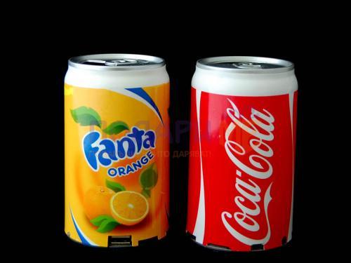 MP3 тонколона във формата на кутийка Coca Cola или Fanta