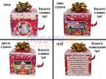 Коледна кутия бонбони Rafaelo - изгледи