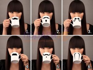 Чаша с мустаци