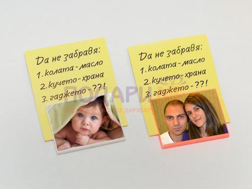 Щипки (3 бр.) за бележки със снимка