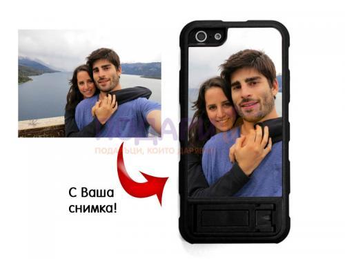 Калъф за iPhone 5, 5s и SE със снимка и поставка