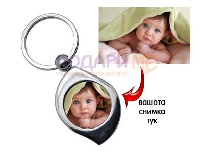 Ключодържател лист със снимка