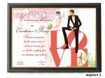 Сватбен колаж в рамка - вариант 3