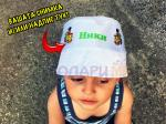 Детска шапка с надпис и снимка по поръчка