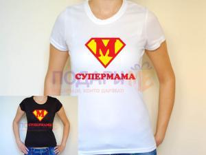 Тениска Супермама / Супербаба