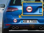 Стикер - ограничение 200 км/ч