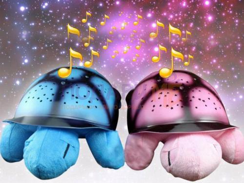 Нощна музикална лампа костенурка