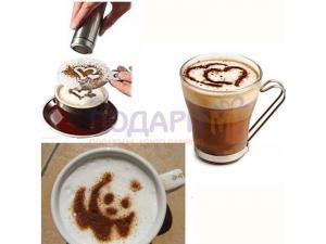 Шаблони за декорация на кафе и десерти