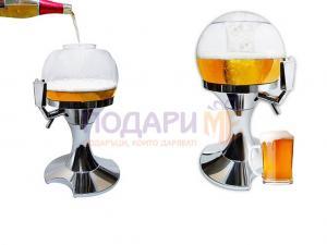 Диспенсър за напитки с отделение за лед