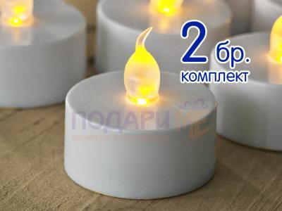 Комплект чаени LED свещи - 2 броя