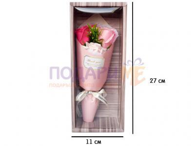 Букет от 3 рози в розово