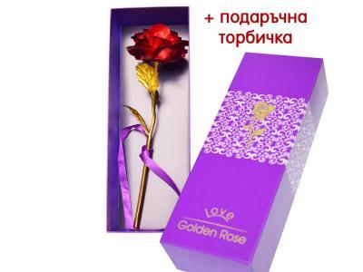 Червена златна роза