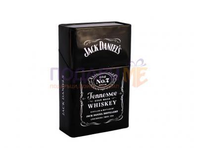 Метална кутия за цигари в стил Jack Daniels