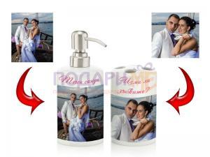 Комплект за баня с Ваши снимки