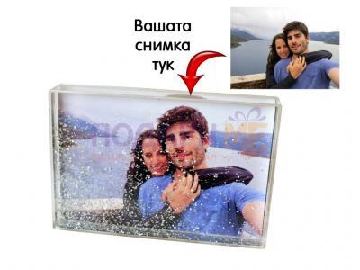 Фото блок с блестящи частици