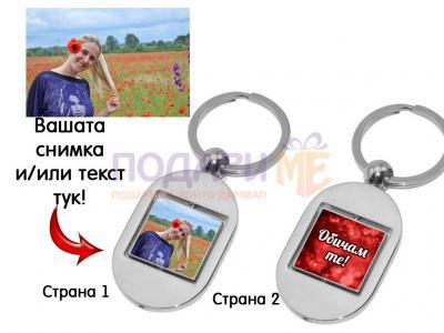 Въртящ се ключодържател със снимки