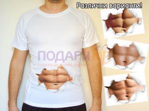 """Мъжка тениска """"плочки"""""""
