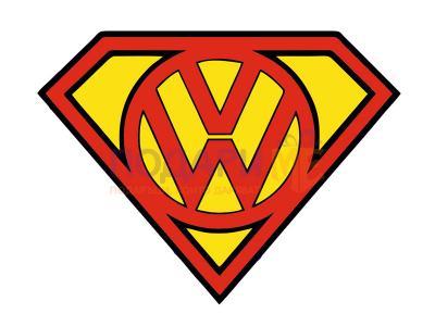 """Стикер """"Супер VW"""""""